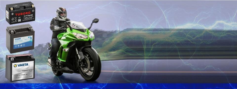 Pełen asortyment akumulatorów do motocykli, skuterów, quadów i kosiarek